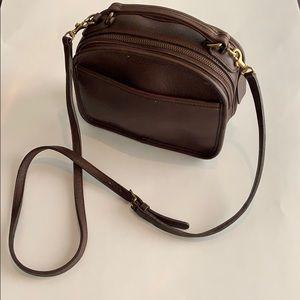 Coach lunchbox bag, chocolate brown
